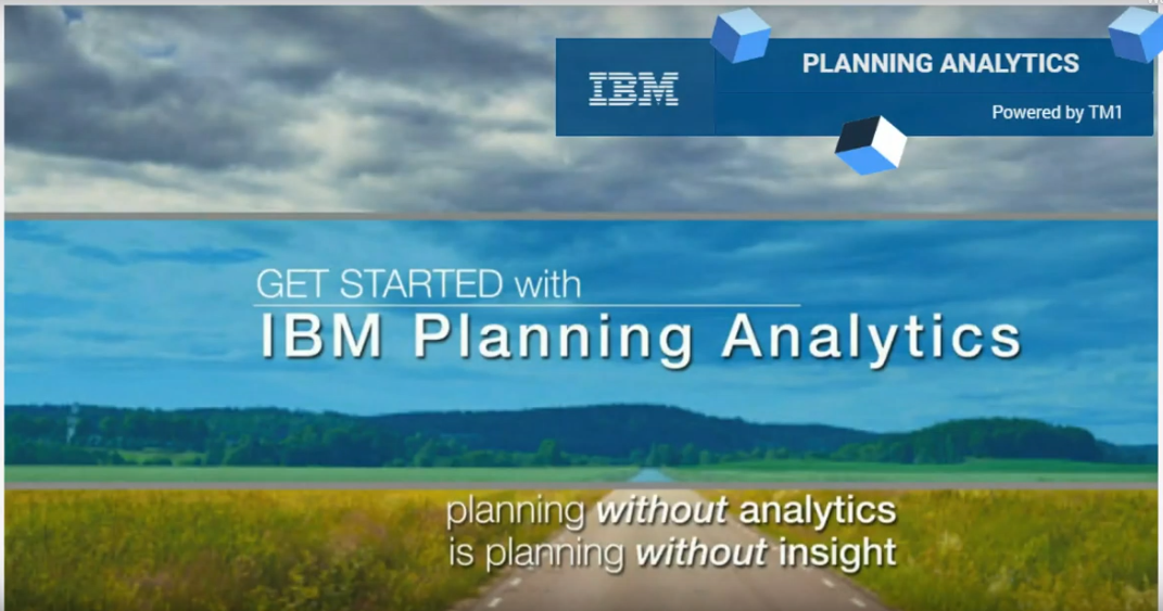 IBM Planning Analytics Overview Demo Screengrab