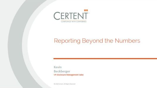 Reporting Beyond the Numbers